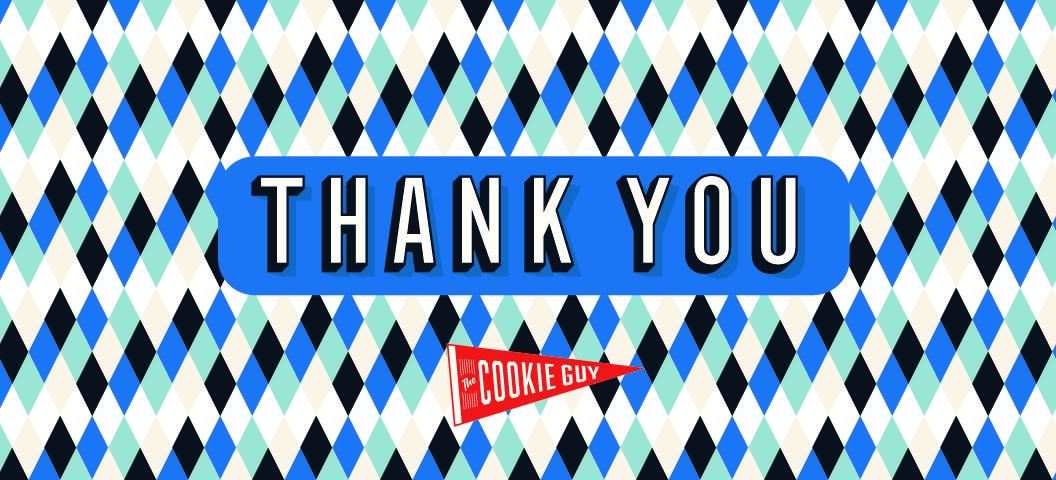 CookieGuy Sticker ThankYou 8x3-5